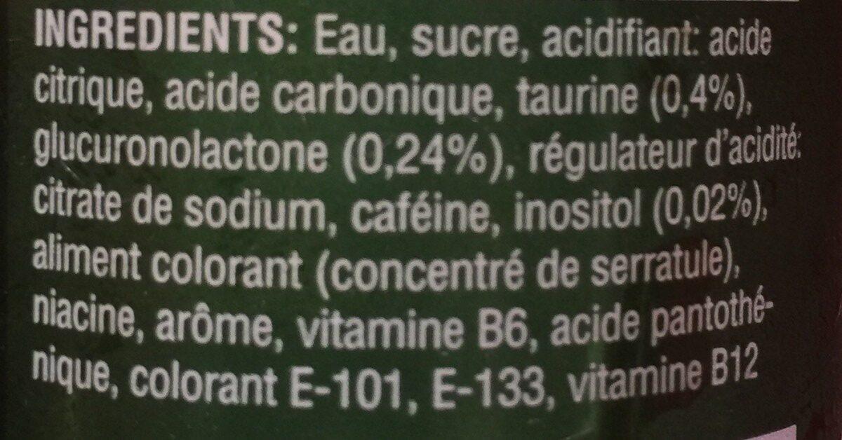 Energy Drink Popeye - Ingrédients - fr