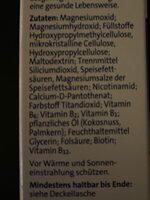 Magnesium 500 - Zutaten - de