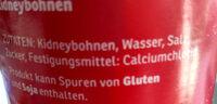 Kidneybohnen - Zutaten - de