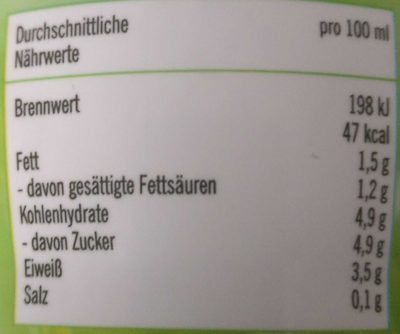 Fettarme H-Heumilch - Informations nutritionnelles - de