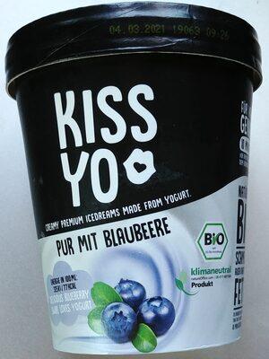 Bio Joghurteis aus fettermen Joghurt (1,5% Fett) und Bio Heidelbeer-Sorbet - 3