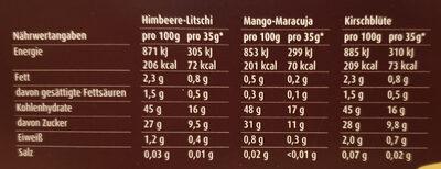 Mochi Exotic - Nutrition facts - de