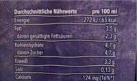 Haltbare Vollmilch 3,5% Fett - Nährwertangaben - de