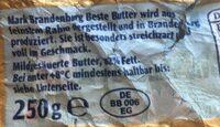 Beste Butter - Ingrédients