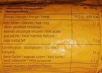 BiFi Roll XXL - Nutrition facts - de