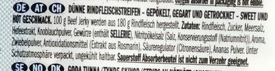 Tasty thin strips of select beef - Inhaltsstoffe - de