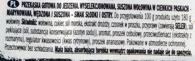 Tasty thin strips of select beef - Składniki