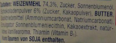Alete Kinderkeks Schoko - Inhaltsstoffe