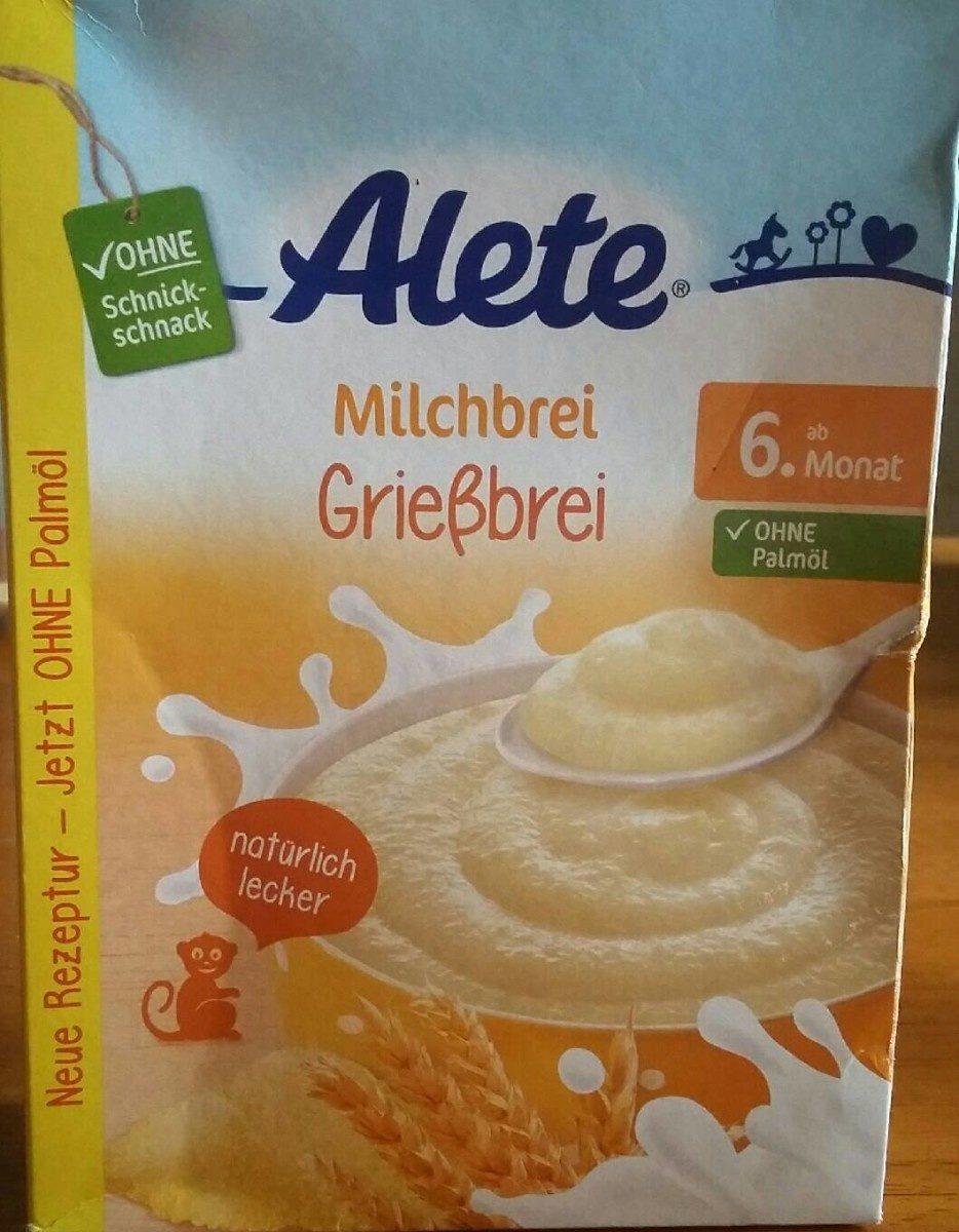 Milchbrei Griebbrei - Produit - fr