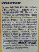 Milchbrei Griebbrei - Ingrédients - fr