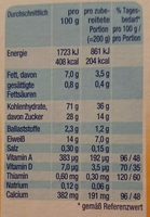 Milchbrei Griebbrei - Informations nutritionnelles - de