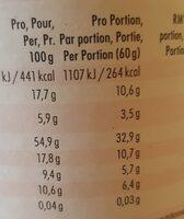 Strawberry vanilla almondgranola - Nutrition facts - de