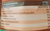 Bio super cookies - Nutrition facts