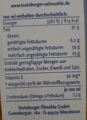 Raps Kernöl - Informations nutritionnelles - de