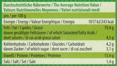 Drachen-tofu - Informations nutritionnelles