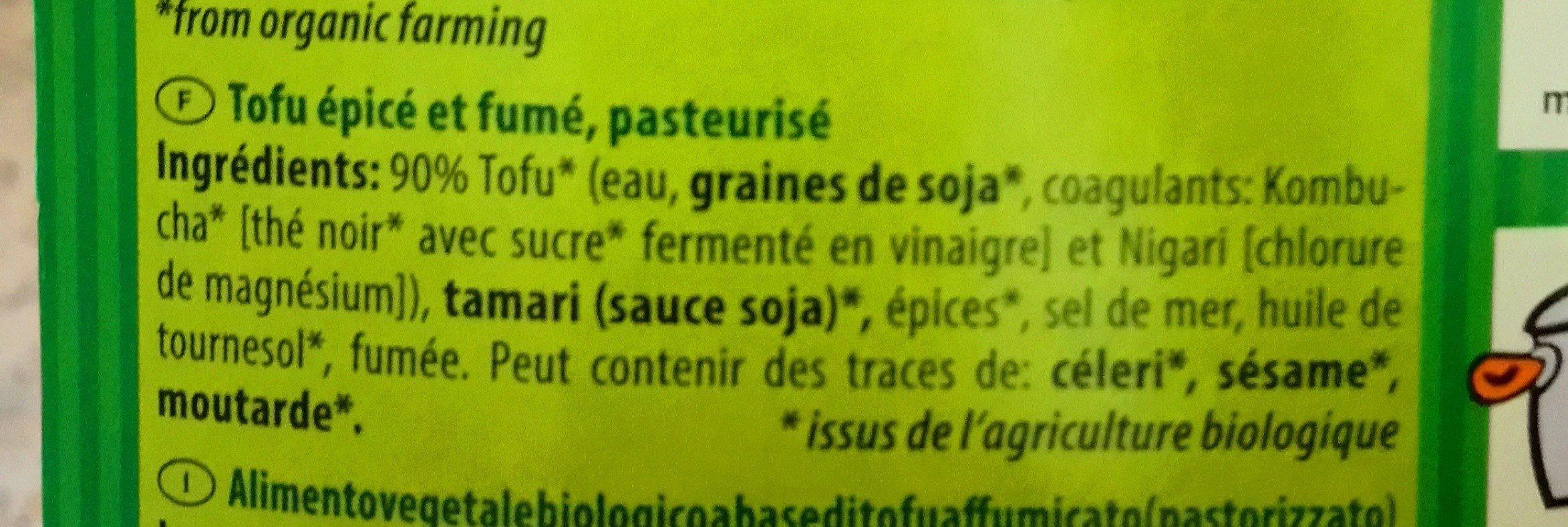 Specky Räucher-Tofu (fumé) - Ingredienti - fr