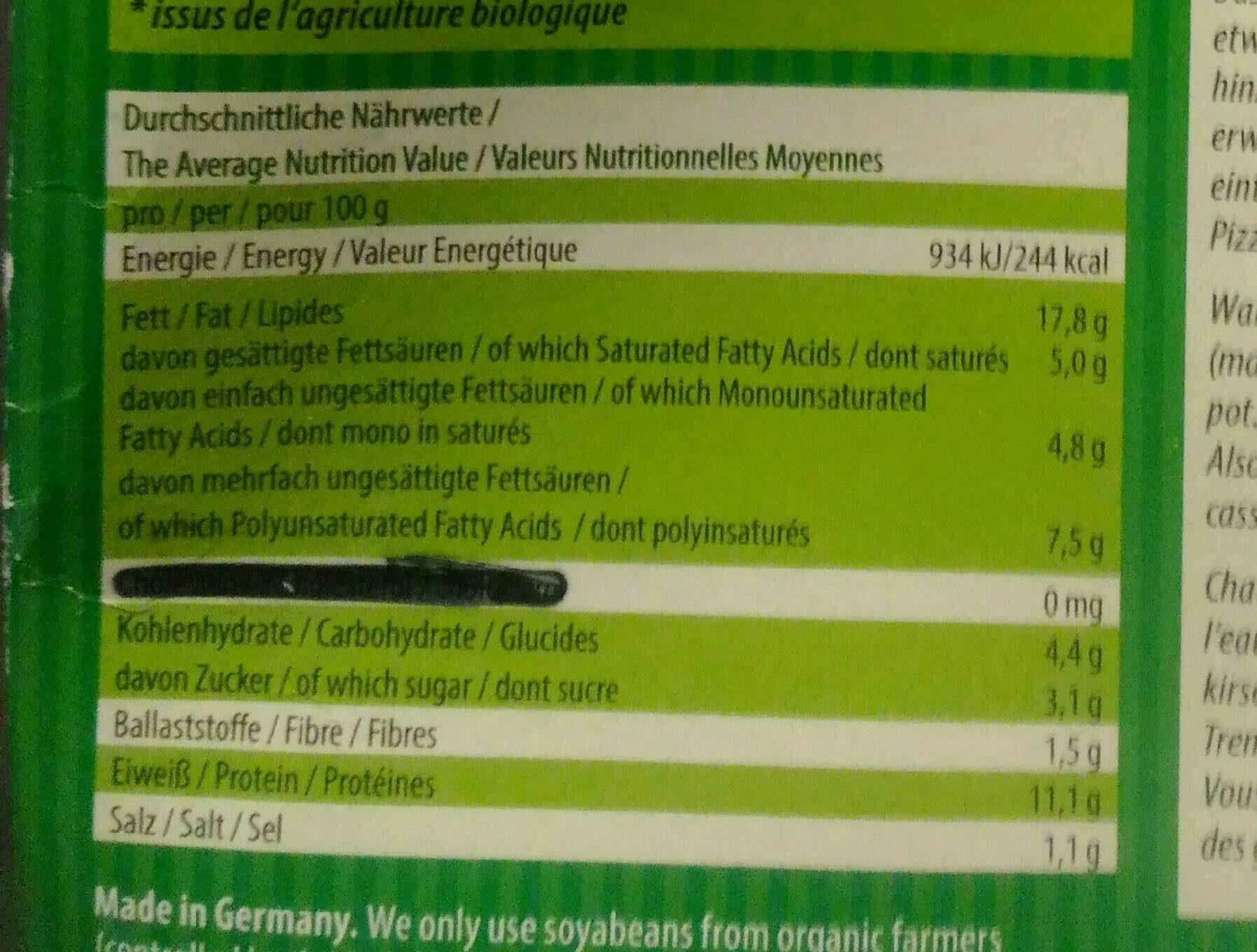 Unglaublich Tofu Nährwerte Ideen Von Lord Of Fondue - Nutrition Facts