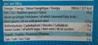 Filet fumé de soja et lupine - Voedingswaarden - fr