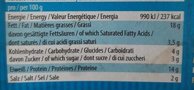 Filet fumé de soja et lupine - Nutrition facts