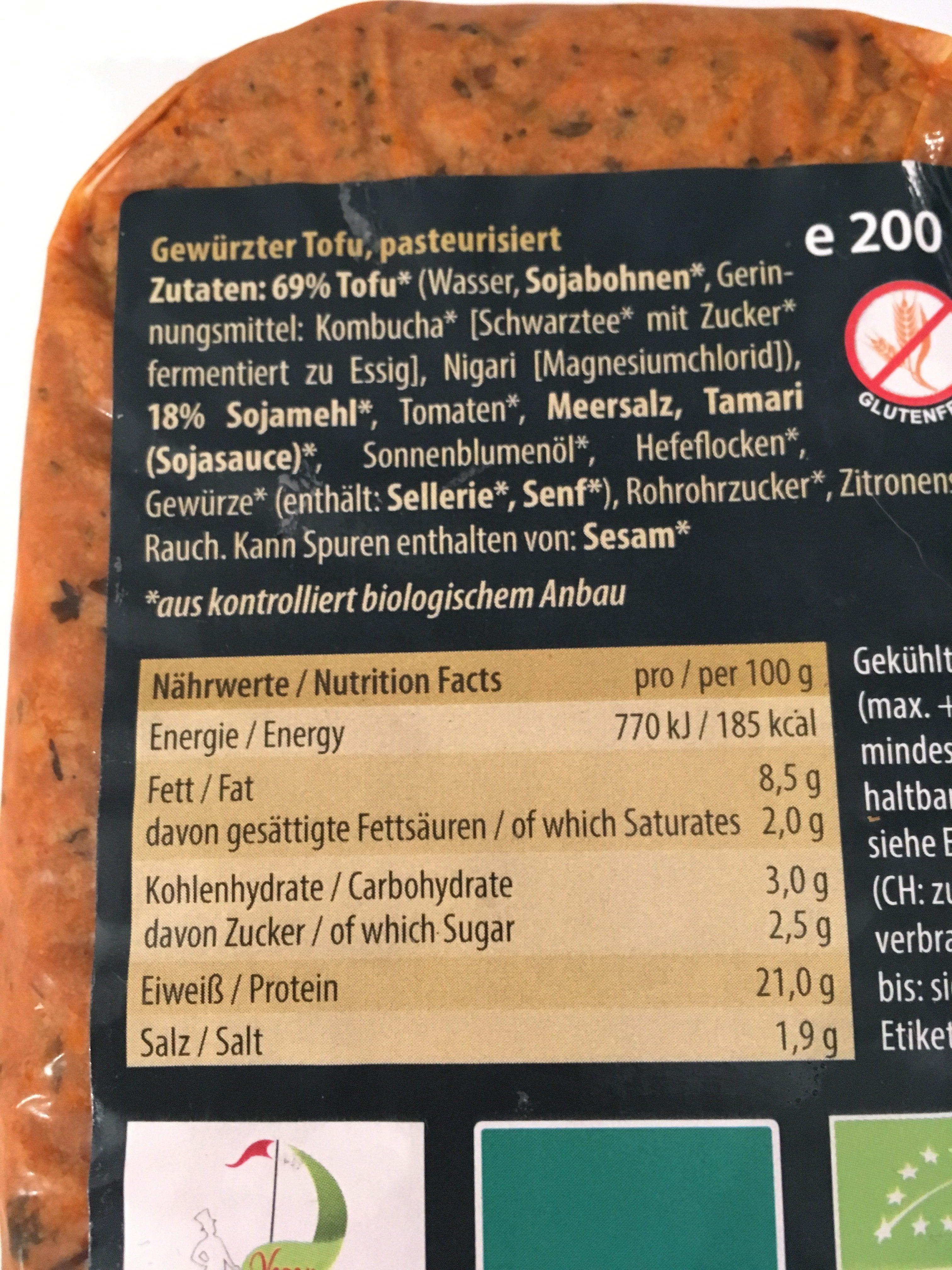 Astounding Tofu Nährwerte Sammlung Von Haché - Ingredients