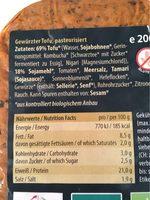 Tofu haché - Voedingswaarden