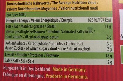 Tofu-Tapas (like vegan meatballs) - Nährwertangaben - fr