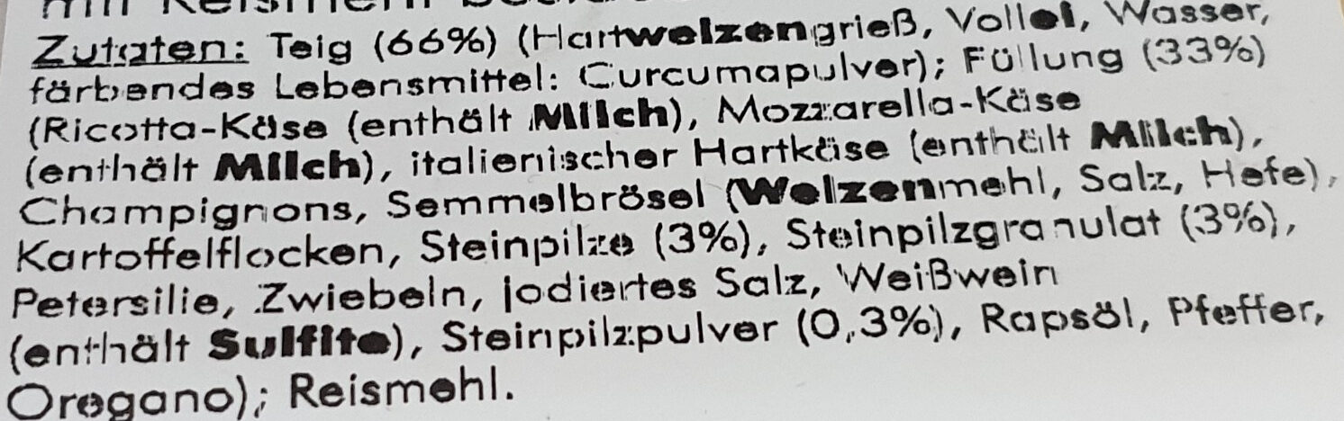Tortellone Steinpilz - Ingrédients - de