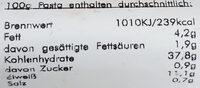Tortellone Steinpilz - Informations nutritionnelles - de