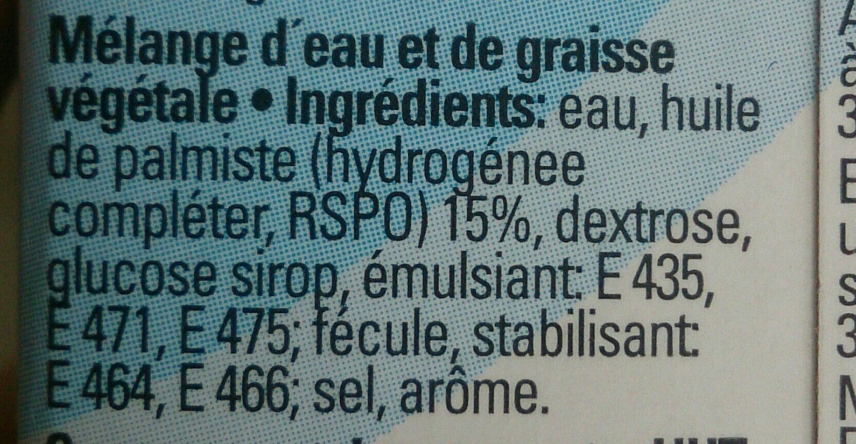Universelle schlagcreme - Ingredients