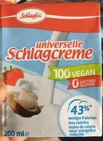 Universelle schlagcreme - Nutrition facts - en