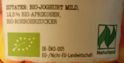 Joghurt Pur Bio Aprikose - Zutaten - de