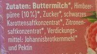Buttermilchdrink Himbeere - Zutaten - de
