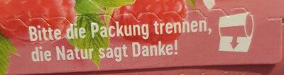 Buttermilchdrink Himbeere - Wiederverwertungsanweisungen und/oder Verpackungsinformationen - de