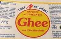 Ayurveda Ghee (230G) - Ingredients - en