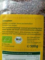 Bio Company Leinsamen - Ingredients - de