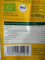 Bio Company Leinsamen - Nutrition facts - de