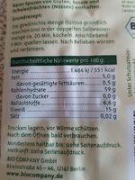 Quinoa weiß - Nährwertangaben - de