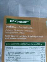 Dinkel aus Deutschland - Ingredients - de