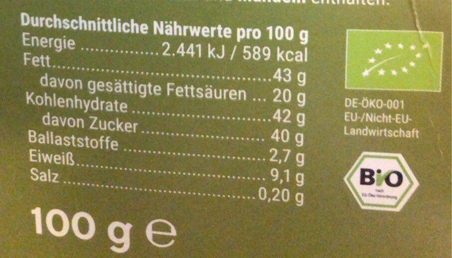 Vollmilch Haselnuss ganze Nüsse - Informations nutritionnelles - de