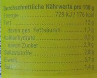 - Informazioni nutrizionali - de