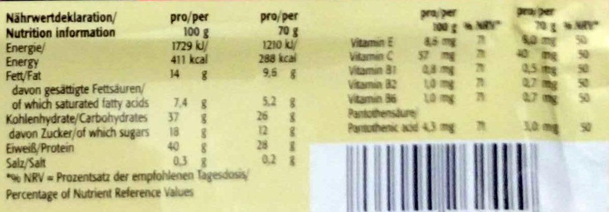 Professional Protein Bar Panna Cotta Krokant Geschmack - Informations nutritionnelles - de