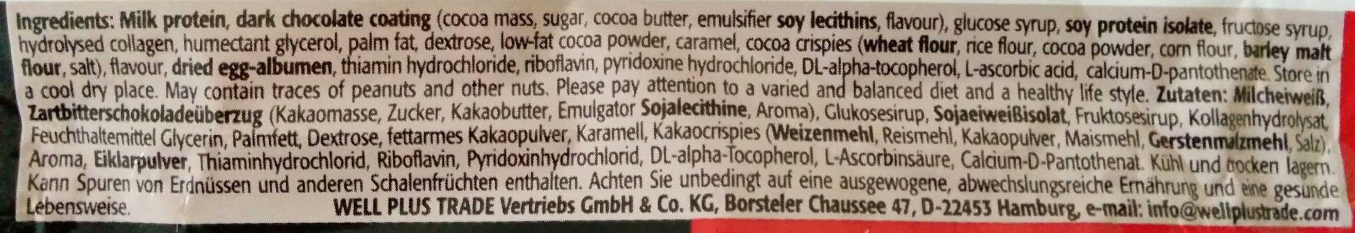 Protein Bar mit Dark Chocolate Geschmack - Zutaten - de