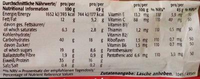 Protein Bar mit Dark Chocolate Geschmack - Nährwertangaben - de