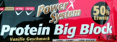 Protein Big Block Vanillegeschmack - Produkt