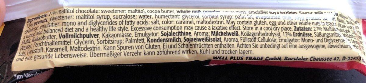 LOWerCARB Protein Karamell-Erdnuss-Geschmack - Ingrédients - fr