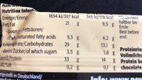 LOWerCARB Protein Karamell-Erdnuss-Geschmack - Informations nutritionnelles - de