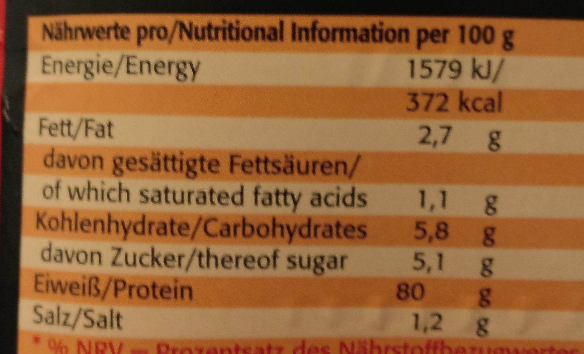 Eiweiß 90 Sahne-Vanille - Valori nutrizionali - de