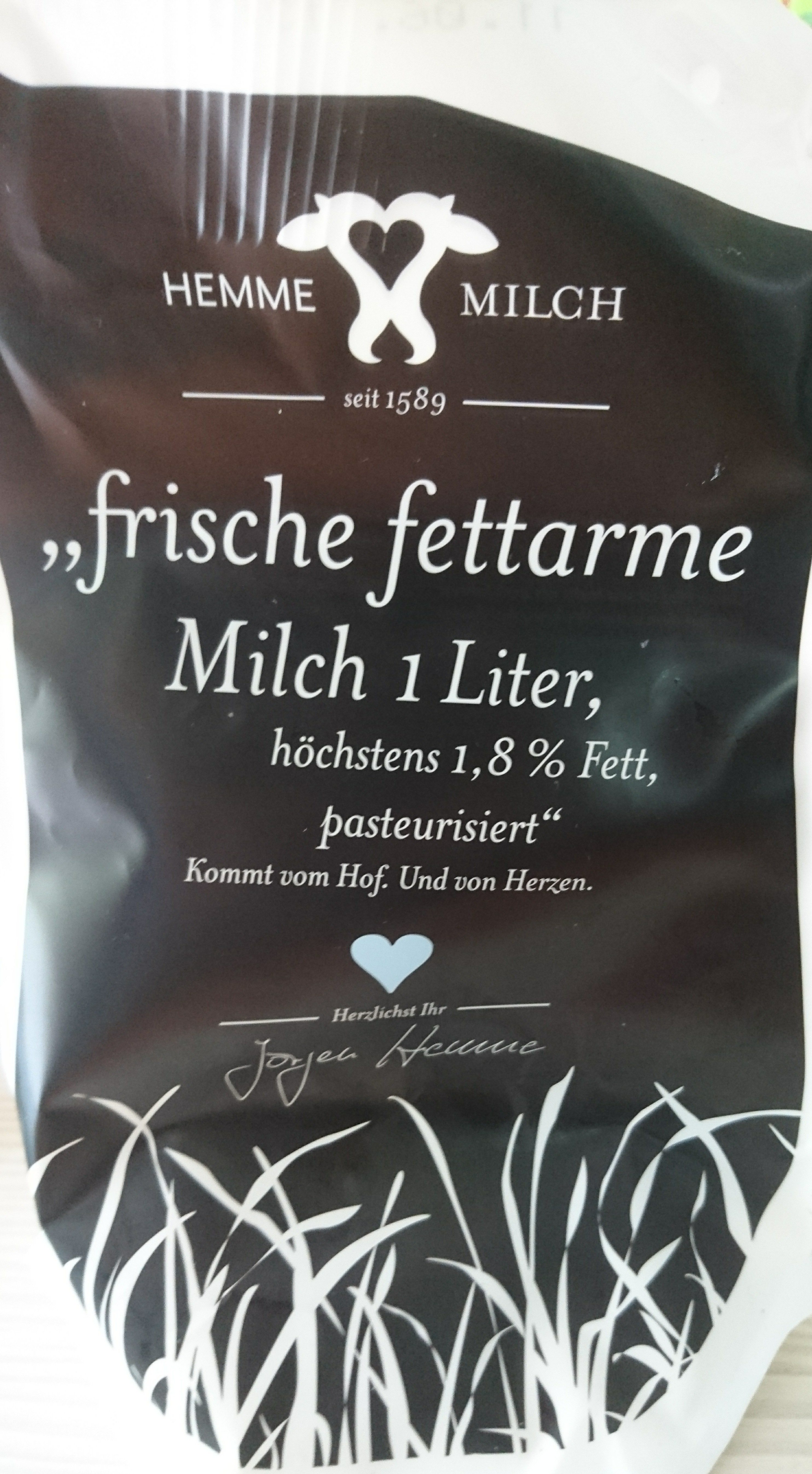 frische fettarme Milch - Product