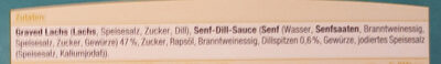 Milder Graved Lachs - Ingredients - de