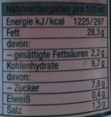 Sylter Salatfrische - Informations nutritionnelles - de